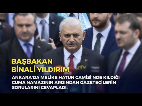 Başbakan Yıldırım, Cuma namazının ardından gazetecilerin sorularını cevapladı - 12.05.2018
