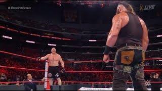 Brock lesnar vs brown stroman wwe universal title at NO MERCY 19/03/2018