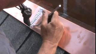 Soldering a Box Gutter - Stitching