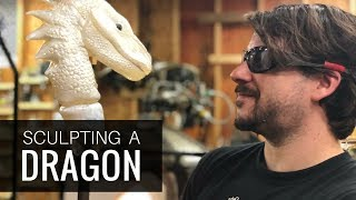 Artist Grant Garmezy Sculpting a Glass Dragon with Glassblowing Techniques