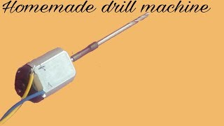 Make a drill machine with . dc motor .  Chauhan Electronics experiment .