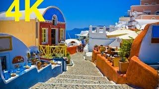 Sony 4k Demo Movie Relax Video Santorin Greece  Around the World 4k