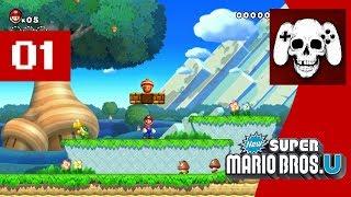 New Super Mario Bros. U (Wii U) Part 1 - Cinemassacre Plays