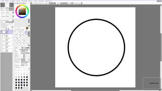 SAI beginner tutorial: pen tool (vector), circles and hair (drawing how-to)