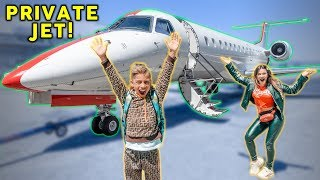 Our First Time FLYING On A PRIVATE JET! *Dream Come True* | The Royalty Family