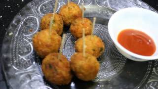 Veg Lollipop for Kids-Easy Snack Recipe for Kids-Finger Food Recipe-Quick Veg Starter  Dolly Kitchen