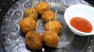 Veg Lollipop for Kids-Easy Snack Recipe for Kids-Finger Food Recipe-Quick Veg Starter  Dolly Kitchen