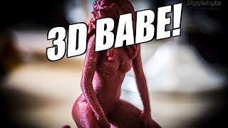 3D Printed Babe! Reow!  ((( TIME LAPSE )))