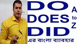 Do । Does । Did এর Grammar ব্যাবহার In Bangla - Learn English Grammar - negative and Interrogative