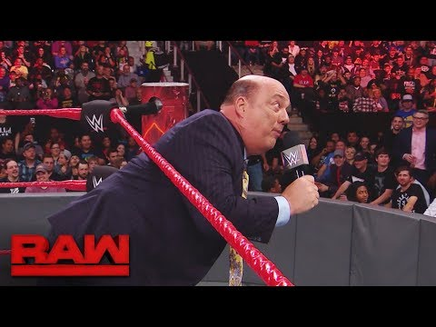WWE fan interrupts Paul Heyman and Brock Lesnar to propose to his girlfriend Raw Nov. 13 2017