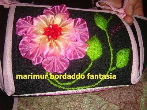 Bordado Fantasia Tapa panera y flor de liston segunda parte marimur 429