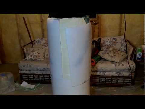 Expanding Foam Encasement bondage in a Barrel