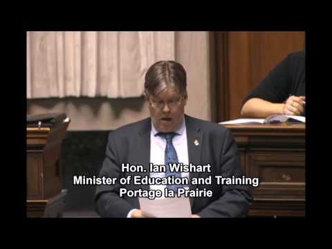 Minister Wishart introduces the Advanced Education Administrative Amendment Act