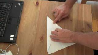 How to make a classic dart paper airplane