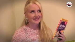 فتاة جميلة ألمانية تحاول التكلم بالعربية - شاهد ماذا حدث !