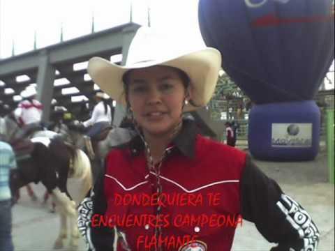ANGELICA MUJICA MUJER DE A CABALLO CAMPEONA NACIONAL DE COLEO 2009