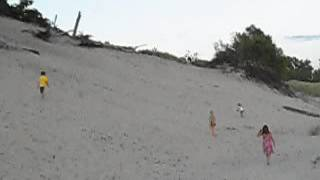 Climbing Of The Sand Hills Of Elco Beach, Sherkston Summer 2013
