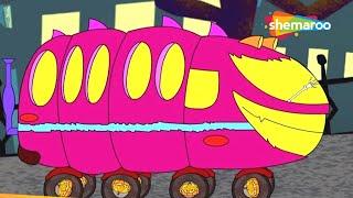 Wheels On The Bus (बस के पैये हेलोवीन)  | Hindi Rhymes for Children (HD)