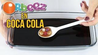 Qué ocurre si metes ORBEEZ en COCA COLA (Experimentos Caseros para niños)