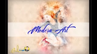 ModernArt3 Photoshop Action Tutorial (Free  action key)