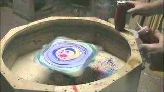 SPIN PAINT ON GLASS