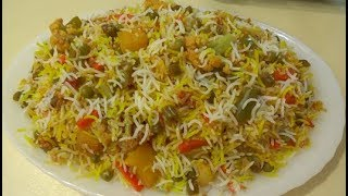 Tasty Veg Biryani Recipe   Easy Homemade Biryani    طرز تهیه بریانی سبزیجات