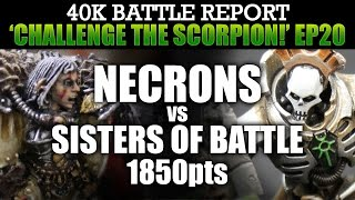 Necrons vs Sisters of Battle Warhammer 40K Battle Report CTS20: QUEST FOR VICTORY! 1850pts | HD