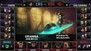 Curse vs XDG | 2014 NA LCS Spring split S4 W8D1 G4 | XDG vs Curse Super Week 8 Day 1 full game HD