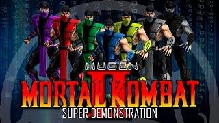 Mugen Mortal Kombat Project II от Joe Duffy(Super Demonstration)