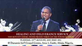 HEALING AND DELIVERANCE SERVICE 15-08-2017