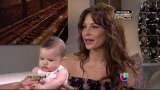 Lorena Rojas presentó en exclusiva a su bebé