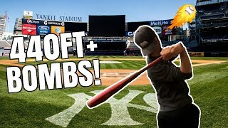 Can I Hit A Home Run at YANKEE Stadium? 440FT DINGER!