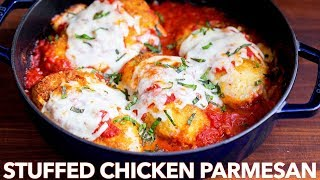 Stuffed Chicken Parmesan Recipe (with Gluten Free Option)