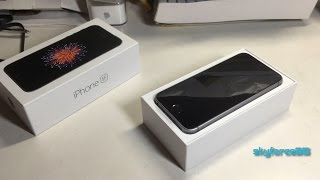 Unlocked iPhone SE Unboxing (Space Gray)