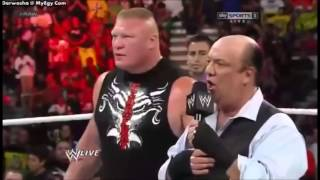 CM Punk Destroys Brock Lesnar And Curtis Axel - Raw 12th August 2013