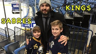 Buffalo Sabres vs LA Kings Meeting Drew Doughty after Game