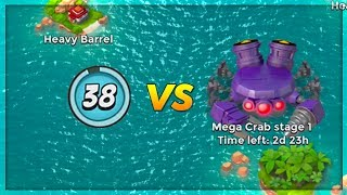 Boom Beach LOW Level Account vs Dr T Mega Crab Boss! (Stages 1-10)