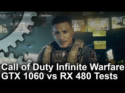 Call of Duty Infinite Warfare PC GTX 1060 vs RX 480 Gameplay Frame Rate Test