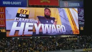 Pittsburgh Steelers Player Introductions featuring Ryan Shazier - Nov 26, 2017 vs. Packers