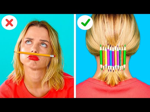FUNNY SCHOOL SUPPLY DIYS How to Sneak Gummy Food in Class with 123 GO GOLD
