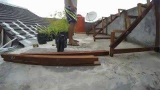 vlog: Timelapse membuat rak kayu tempat polybag dan hidroponik