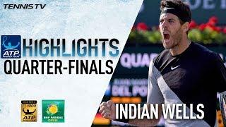 Highlights: Raonic, Del Potro Set Indian Wells SF 2018