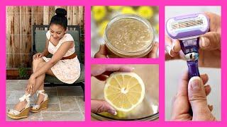 DIY SKIN SCRUB & Gillette Venus Swirl Demo! How to Shave Legs!