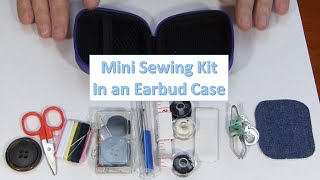 Mini Sewing Kit in an Earbud Case