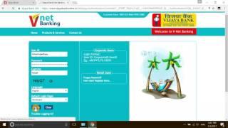 vijaya bank net banking and money transfer