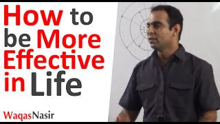 How to Be More Effective in Life -By Qasim Ali Shah (In Urdu/Hindi) 2016