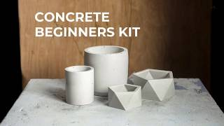 Concrete Beginners Kit - Silicone Molds for Concrete & More