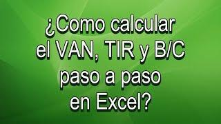 Calculo de VAN, TIR y B/C proyectos FAPPA y PROMETE