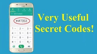 Very Useful Secret Codes For All Samsung Phones!