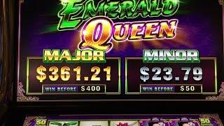 NEW Emerald Queen Slot- 2 Bonuses Ainsworth